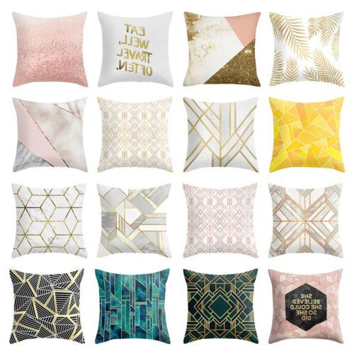 geometric printed polyester cushion covers sofa throw