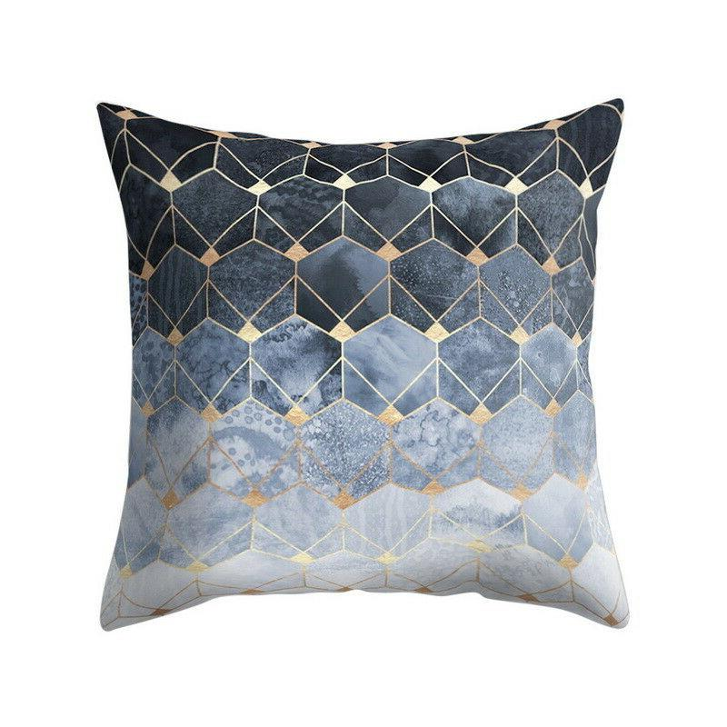 Geometric Printed Polyester Throw Pillow Sofa Cushion Cover