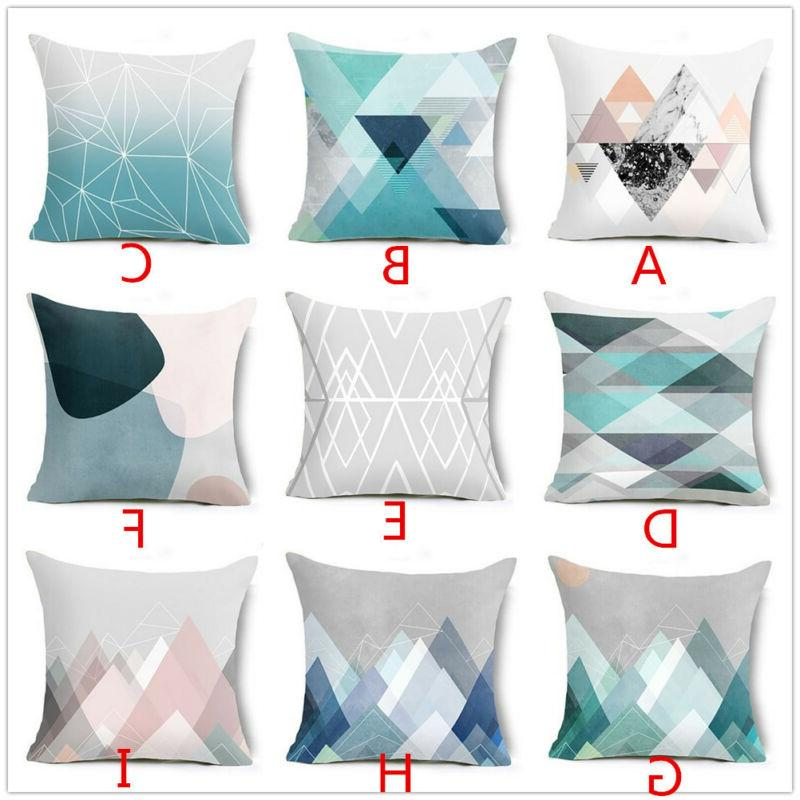 Geometric Printed Pillow Cases Cushion Cover