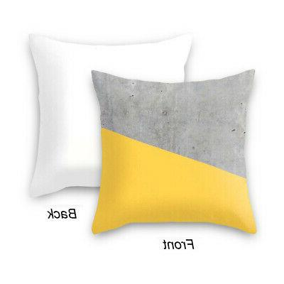 Polyester Case Car Throw Covers Home Decoration Yellow