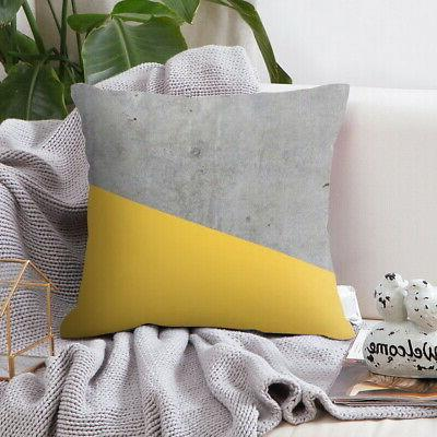 Polyester Pillow Sofa Car Covers Yellow