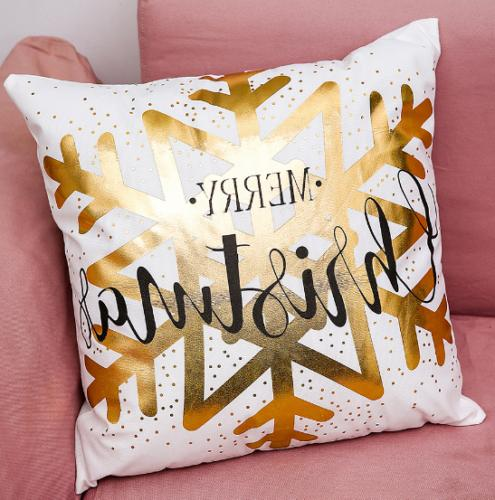 Gold Letters Cover Sofa Home