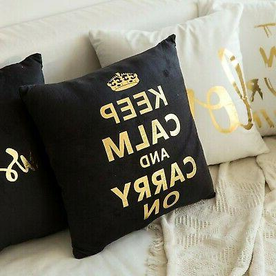 MIULEE Gold Soild Decorative Square Pillow
