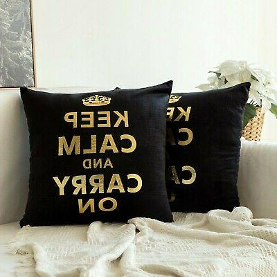 MIULEE Soild Decorative Throw Pillow