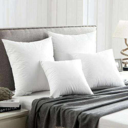 goose duck down feather throw pillow inserts