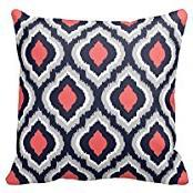Gray,Coral Pink and Navy Blue Moroccan Pillow Home Sofa Deco
