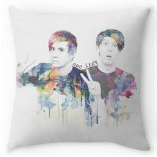 Guse case Phil Lester And Dan Howell Cotton Throw Pillow Cas