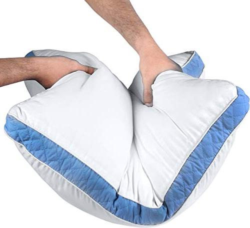 Utopia Pillow 26 - Set of Bed Back Sleepers Blue Gusset