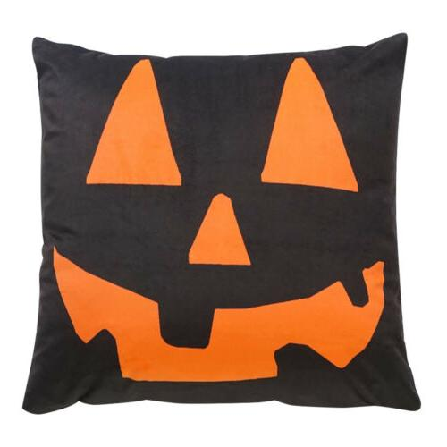 Halloween Pumpkin Throw Pillow Cover Cushion