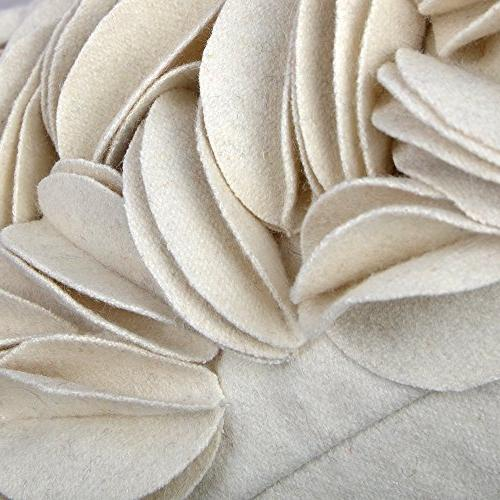 KingRose 3D Decorative Home Decor Wool Covers for Room Inches Creamy White