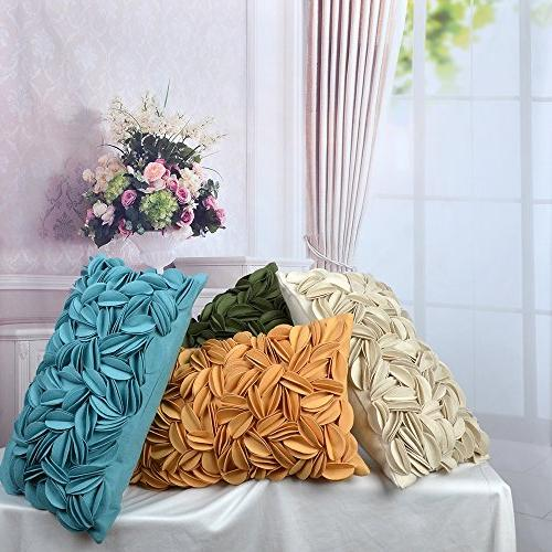 KingRose 3D Rectangle Decorative Home Decor Wool Covers for Room 12 20 Inches