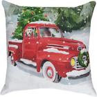 "Holiday Drive Dog in Truck Christmas Indoor/Outdoor 18"" Toss"