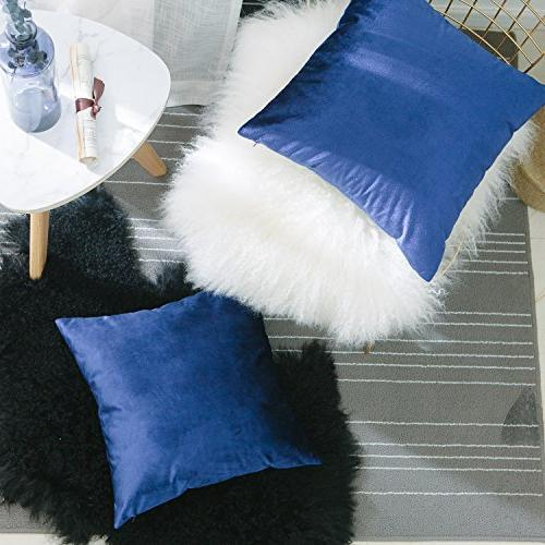 HOME BRILLIANT Set of Pillowcases Throw Set Covers, x 18 inches, Blue