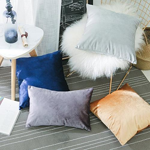 HOME BRILLIANT of 2 Pillowcases Throw Covers Set x 18 Blue
