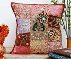 Home Decor Throw Bed Pillow Beaded Indian Cushion Cover Sofa