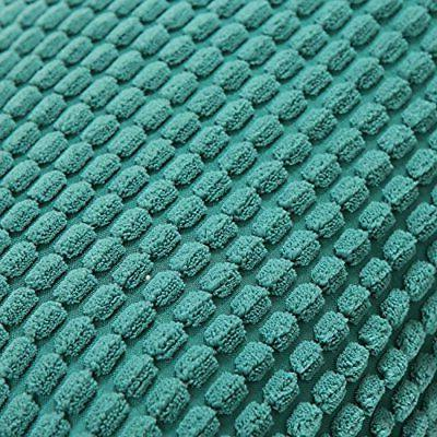 Home Throw Case Covers Corduroy Corn Striped,Teal