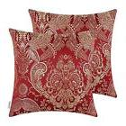 Home Decor x2 Throw Pillow Case Cover 18x18 In Reversible Vi