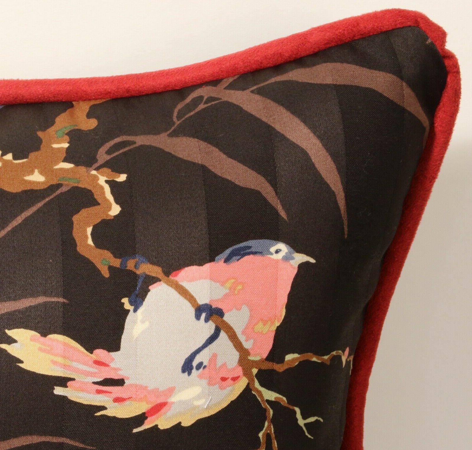 """I 26"""" Floral & Black Red Throw"""