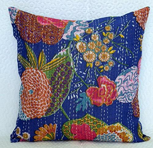 indian handmade cushion pillow cover