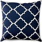 Indoor/Outdoor Decorative Square Throw Pillow - Navy and Whi