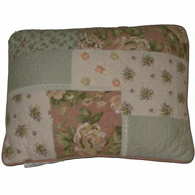 J C Penney Lace Garden Floral Patchwork Throw Pillow Pretty