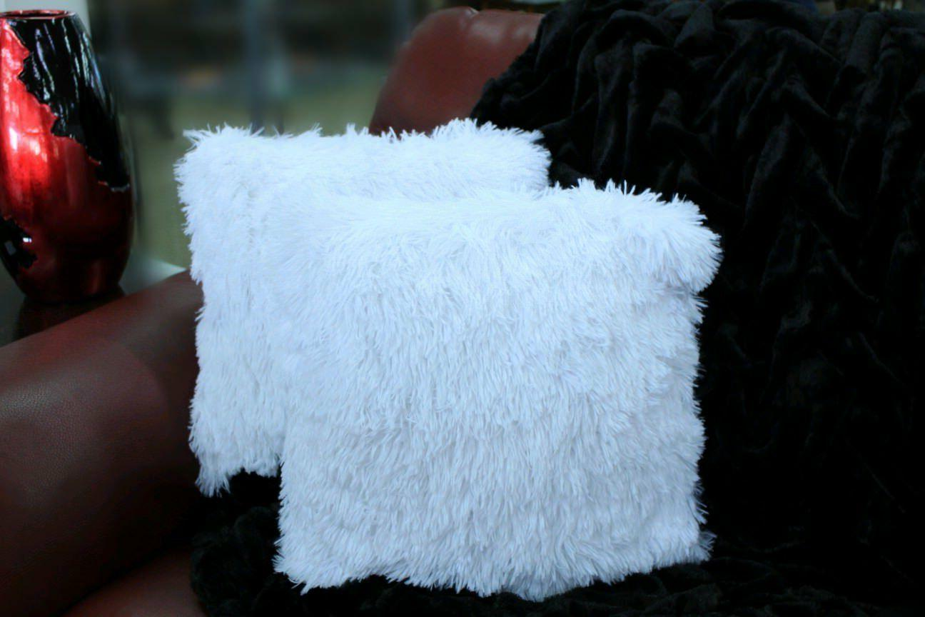 kelly soft fur cushion square decorative solid