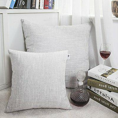 Kevin Textile Pillow Covers Decorative Lined Linen Throw Case Sham
