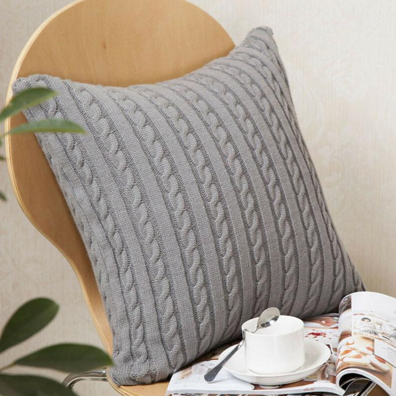 Knitting Fashion Throw Case Sofa Cover Decoration 18x18""
