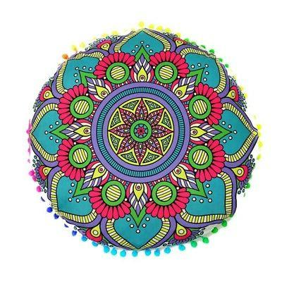 Round Mandala Meditation Floor Pillows Indian Tapestry Bohem