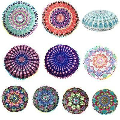 Round Mandala Meditation Indian Floor Pillows Tapestry Bohem