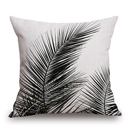 "WOMHOPE 17"" Black Style Cotton Canvas Throw Pillow Case"