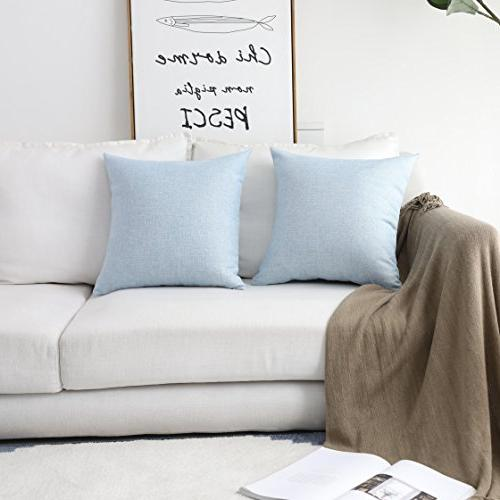 supersoft fuax linen square throw