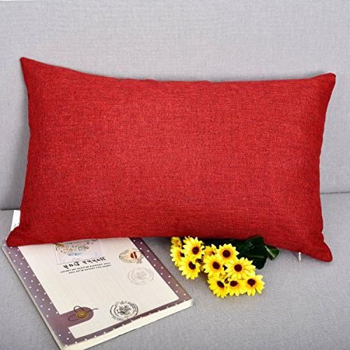 Natus Weaver Lined Linen Cushion Cover Square Throw Pillow C