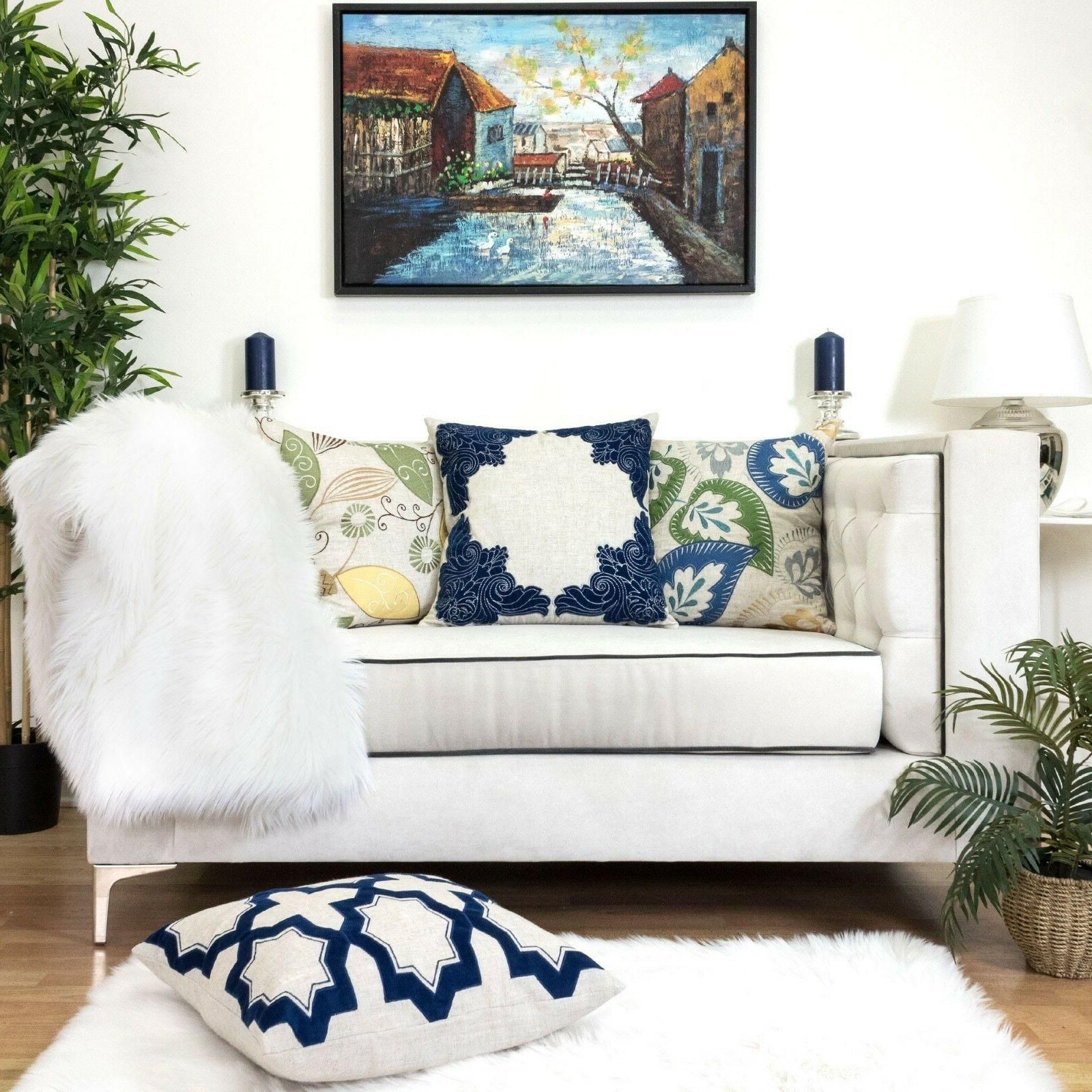 Homey Pillow Cover,Premium Embroidery Cushion