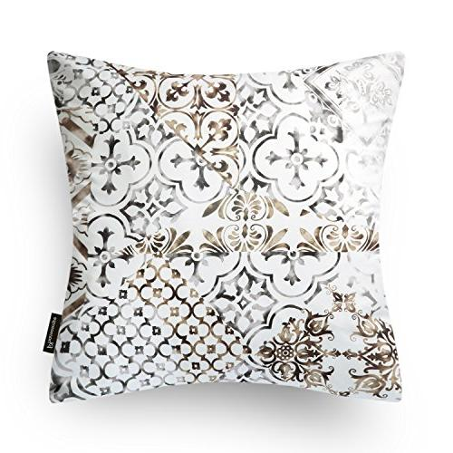"Phantoscope New Living Coffee Color Decorative Pillow Case Cushion x 18"" x 45cm"