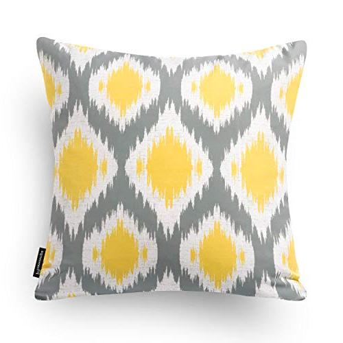 "Phantoscope Set of New Living Yellow and Throw Pillow Case Cover 18"" x 45cm"