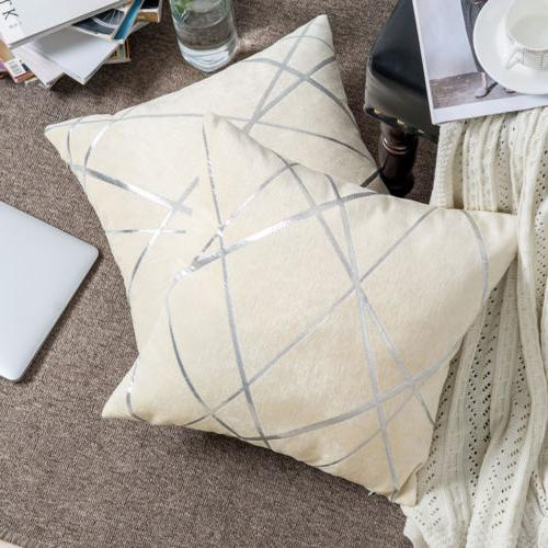 Luxury Pillow Geometric Throw Cushion Cover Home