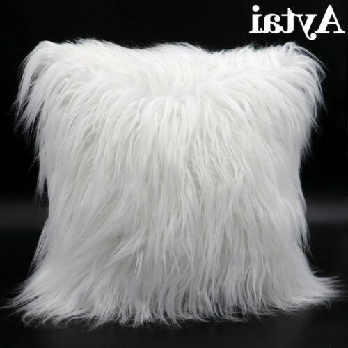 Luxury Series Throw Pillow Covers Soft Faux Fur Cushion Case