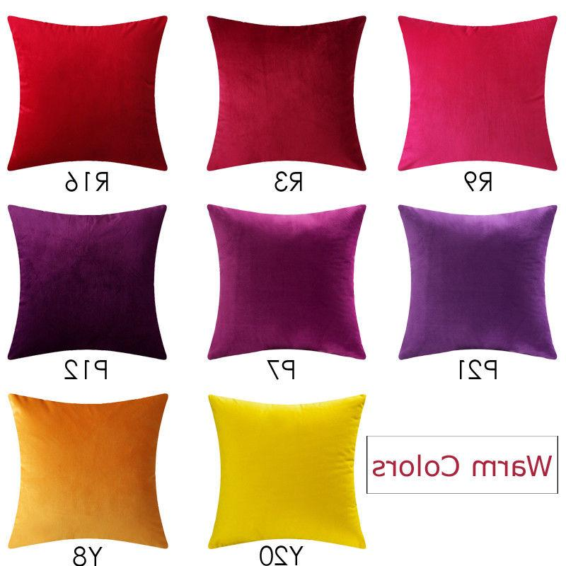 Microfiber Covers Decorative Solid Color