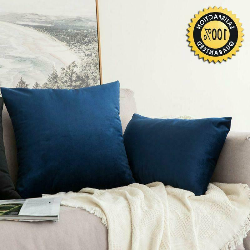 Miulee Pack, Soild Square Throw Pillow Covers