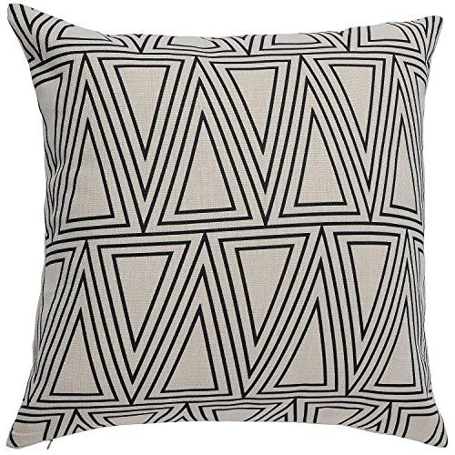 Aiminila Modern Style Linen Throw Pillow 18 x Inches, of 4