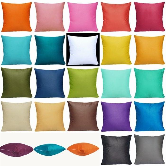 "16x16"" Candy 100%Cotton Throw Sofa Cushion Case"