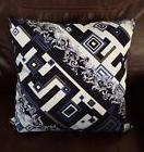"NEW VERSACE HOME NAVY & BLUES 19 X 19"" THROW PILLOW  MADE IN"