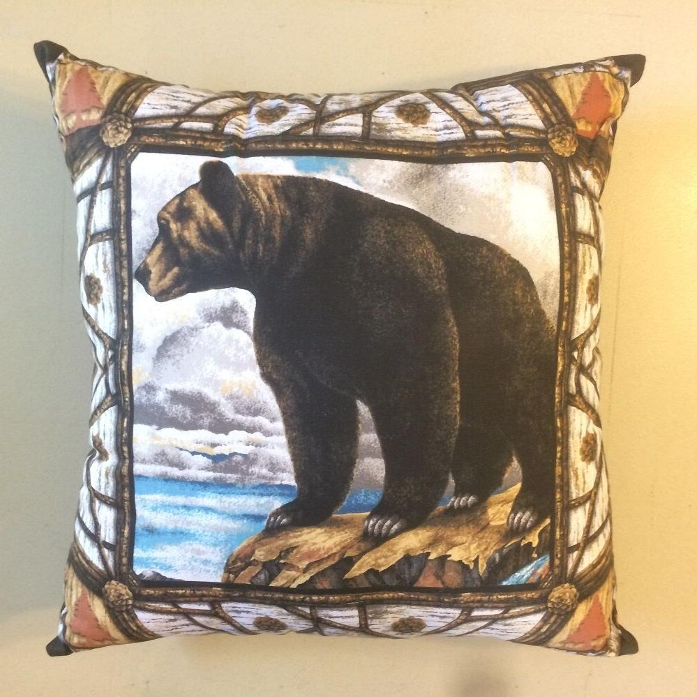 NEW 15 x 15 BLACK GRIZZLY BEAR COMPLETE THROW MANY