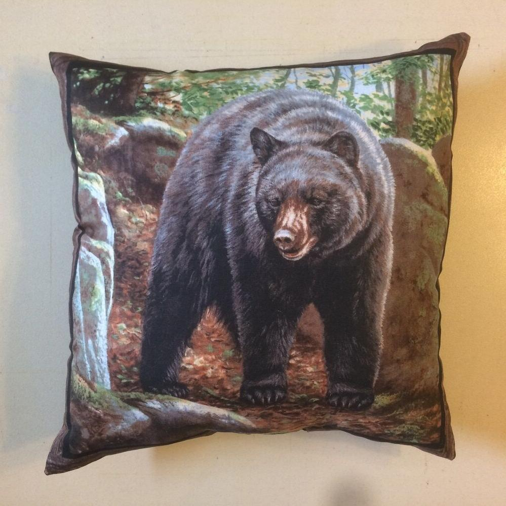 NEW 15 BLACK BROWN GRIZZLY COMPLETE THROW PILLOWS MANY STYLES