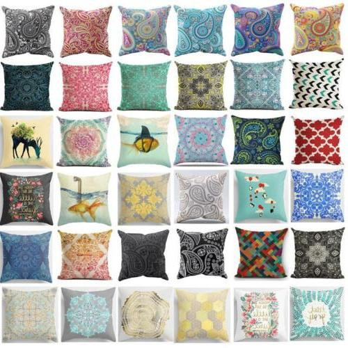 New Bohemian Pattern Throw Pillow Cover Car Cushion Cover Pi