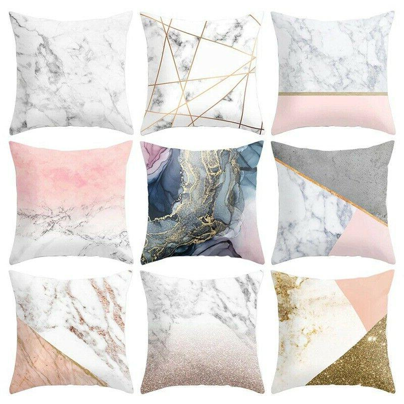 novelty marble texture decoractive throw pillow case