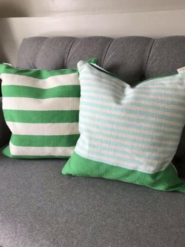 one 1 nwt double sided striped throw
