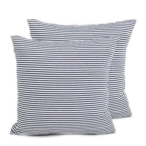 pack of 2 cotton woven striped throw