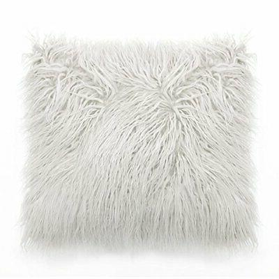MIULEE Pack Decorative Luxury Style White Faux Throw Pillow